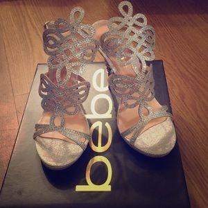 Bebe Delja Jewel Sandal Heel size 6